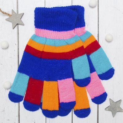 """Перчатки детские Collorista """"Пальчики"""", размер 22 (р-р произв. 11), цвет синий"""