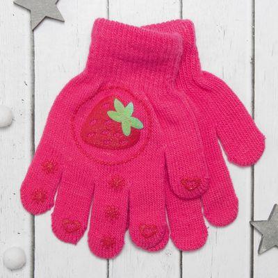 """Перчатки детские Collorista """"Спелая ягодка"""", размер 16, цвет розовый"""