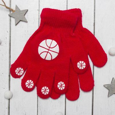 """Перчатки детские Collorista """"Мячики"""", размер 16 (р-р произв. 8), цвет красный"""