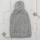 Шапка одинарная для девочки, размер 50-52, цвет серый кс117
