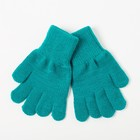 Перчатки одинарные для девочки, размер 16, цвет бирюзовый 6с177
