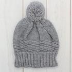 Шапка одинарная для мальчика, размер 52-54, цвет серый меланж кс115