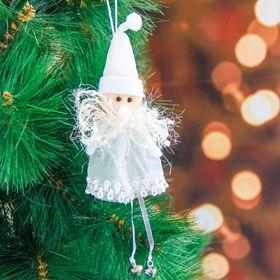 Soft white dress 10 cm Santa Claus