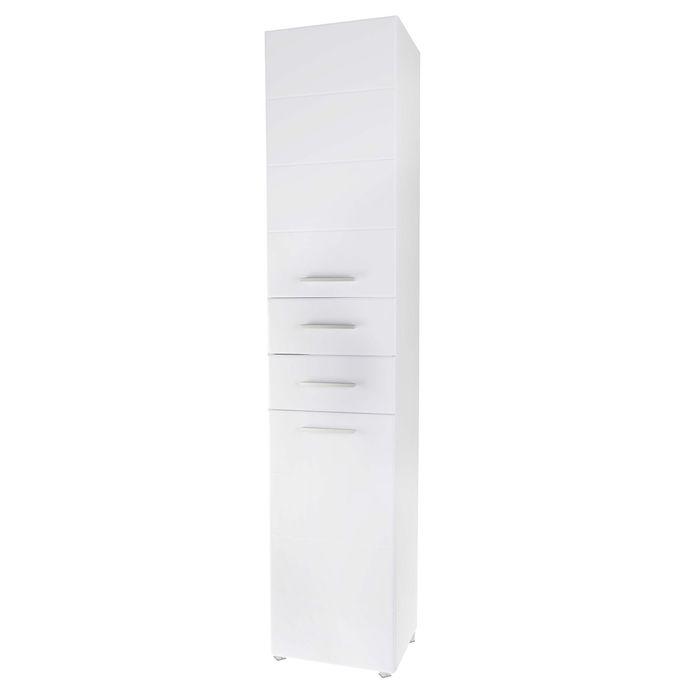 "Пенал ""Квадро"", 36 х 30 х 181 см, белый глянец"