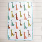 Коврик детский на фольгированной основе «Весёлые жирафики», размер 180х100 см