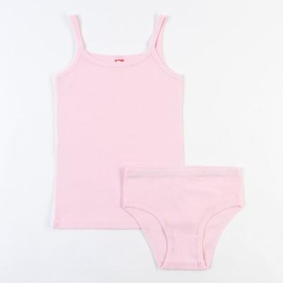 Комплект для девочки (майка, трусы), рост 146 см, цвет светло-розовый