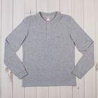 Рубашка-поло для мальчика, рост 158 см, цвет серый меланж