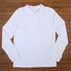 Рубашка-поло для мальчика, рост 158 см, цвет белый