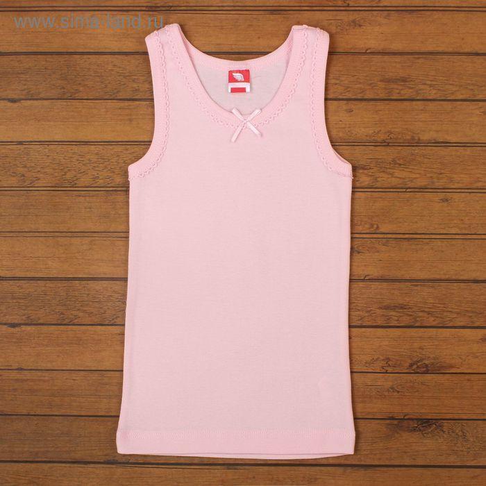 Майка для девочки, рост 122-128 см, цвет светло-розовый CAK 2236