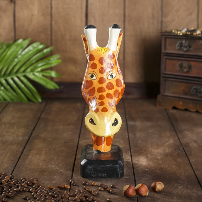 """Сувенир дерево """"Жираф"""" подставка под очки 25х13х7 см"""