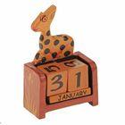 """Календарь настольный дерево """"Жираф"""" 11х7х3,5 см"""