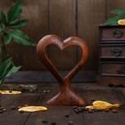 "Souvenir wood ""Heart"" 15х11х3 cm brown"