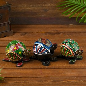 "Souvenir wood ""Turtle bobble head"" 11х10х10 cm MIX"