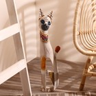"Сувенир дерево ""Серая кошка в ошейнике из мозаики"" 60х12х6 см"