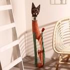 """Сувенир дерево """"Кошка в зеркальном ошейнике"""" 80х13х7 см"""
