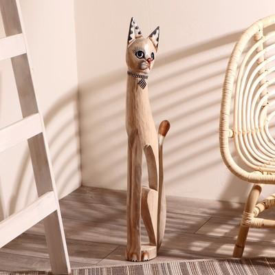 """Сувенир дерево """"Кошка с ошейником и ромбиком"""" 80х13х7 см"""