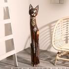 """Сувенир дерево """"Кошка в галстуке из мозаики"""" 100х16х7 см"""