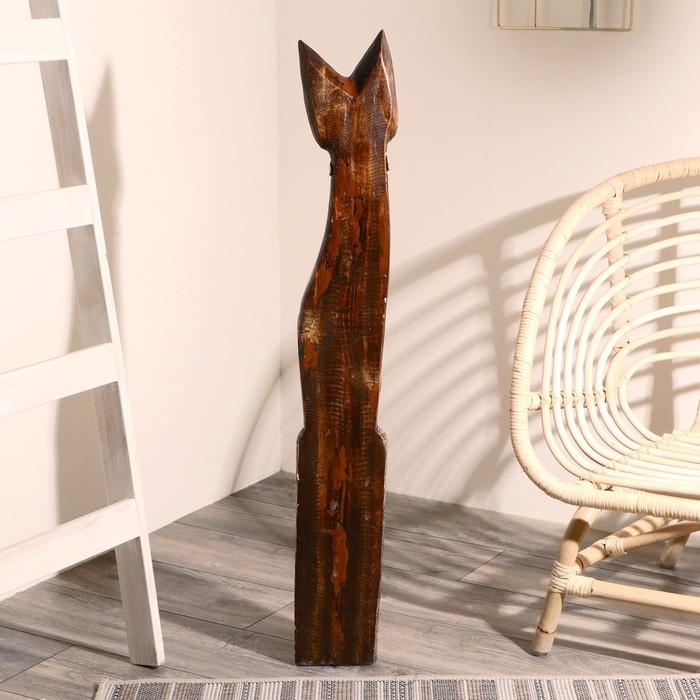 """Сувенир дерево """"Кошка в галстуке из мозаики"""" 100х16х7 см - фото 369711005"""