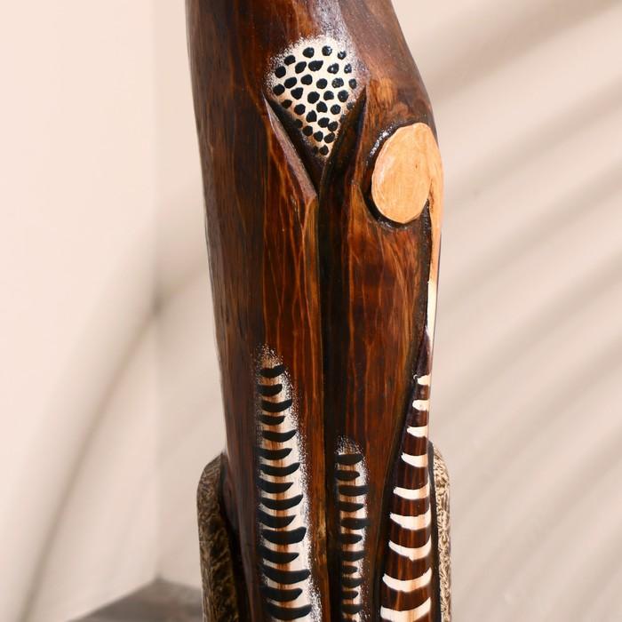 """Сувенир дерево """"Кошка в галстуке из мозаики"""" 100х16х7 см - фото 369711007"""