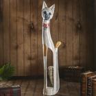 "Сувенир дерево ""Серая кошка в ошейнике из мозаики"" 100х16х7 см"