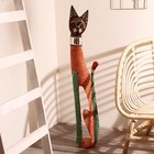 """Сувенир дерево """"Кошка в зеркальном ошейнике"""" 100х16х7 см"""