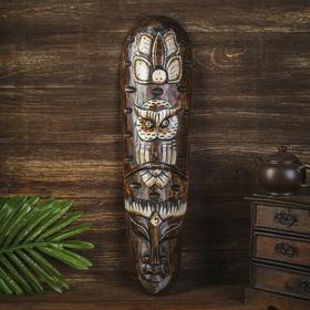 """Mask tree """"Aboriginal and owl"""" 50х12х4 cm MIX"""