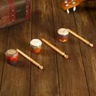 Musical instrument Rattle drum painting 17х4,5x4,5 cm