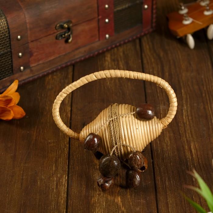 Музыкальный инструмент Маракас из ротанга с семенами МИКС 16х10х12 см