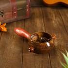 Музыкальный инструмент Маракас кокос с трещоткой 23х12х8 см