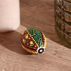 """Musical instrument Maracas """"Egg pattern - dot painting"""" 7х5х5 cm"""