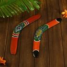 "A souvenir boomerang ""Color pattern"" with 2 sides 40х6х0,7 cm"