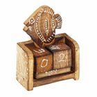 "Деревянный календарь с кубиками ""Рыбка"" 8,5х6х3,5 см"