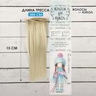 """Волосы - тресс для кукол """"Прямые"""" длина волос 15 см, ширина 100 см, цвет № 88"""