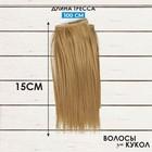 """Волосы - тресс для кукол """"Прямые"""" длина волос 15 см, ширина 100 см, цвет № 24"""