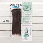 """Волосы - тресс для кукол """"Прямые"""" длина волос 15 см, ширина 100 см, цвет № 10"""