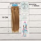 """Волосы - тресс для кукол """"Прямые"""" длина волос 15 см, ширина 100 см, цвет № 22Т"""