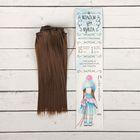 """Волосы - тресс для кукол """"Прямые"""" длина волос 15 см, ширина 100 см, цвет № 9"""