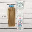"""Волосы - тресс для кукол """"Прямые"""" длина волос 15 см, ширина 100 см, цвет № 16"""