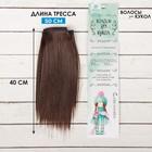 """Волосы - тресс для кукол """"Прямые"""" длина волос 15 см, ширина 100 см, цвет № 4"""