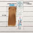 """Волосы - тресс для кукол """"Прямые"""" длина волос 15 см, ширина 100 см, цвет № 28"""