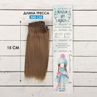 """Волосы - тресс для кукол """"Прямые"""" длина волос 15 см, ширина 100 см, цвет № 18В"""
