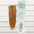 """Волосы - тресс для кукол """"Прямые"""" длина волос 15 см, ширина 100 см, цвет № 16А"""