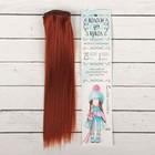 """Волосы - тресс для кукол """"Прямые"""" длина волос 25 см, ширина 100 см, цвет № 350"""
