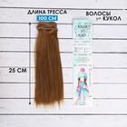 """Волосы - тресс для кукол """"Прямые"""" длина волос 25 см, ширина 100 см, цвет № 28"""