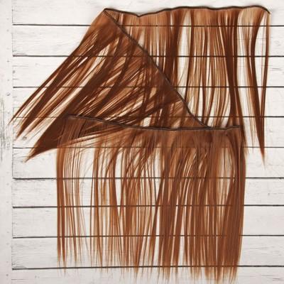 Волосы - тресс для кукол «Прямые» длина волос: 25 см, ширина:100 см, цвет № 30А