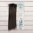 """Волосы - тресс для кукол """"Прямые"""" длина волос 25 см, ширина 100 см, цвет № 8"""