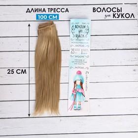 Волосы - тресс для кукол «Прямые» длина волос: 25 см, ширина:100 см, цвет № 15