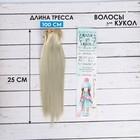 """Волосы - тресс для кукол """"Прямые"""" длина волос 25 см, ширина 100 см, цвет № 88"""