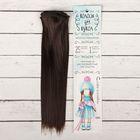 """Волосы - тресс для кукол """"Прямые"""" длина волос 25 см, ширина 100 см, цвет № 10"""
