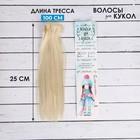 """Волосы - тресс для кукол """"Прямые"""" длина волос 25 см, ширина 100 см, цвет № 613А"""